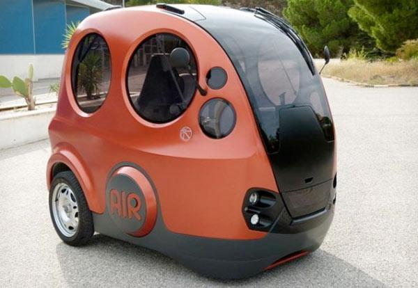 Een van de kleinste auto's; de Tata AirPod